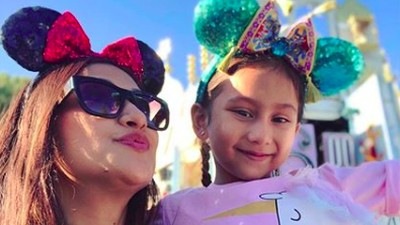 6 Momen Manis Rahma Azhari dengan Putri Kecilnya, Calyca