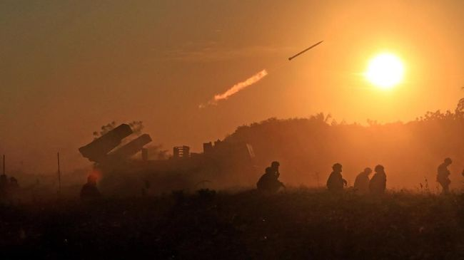 Pangkalan militer AS di Irak rusak berat akibat serangan rudal Iran.