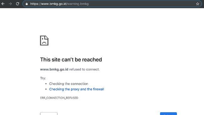 Situs dan Aplikasi BMKG Down Usai Gempa Banten