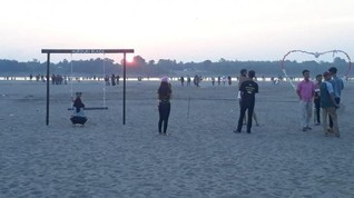 Pantai Aurduri, Objek Wisata 'Dadakan' di Jambi