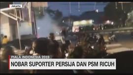 VIDEO: Nobar Suporter Persija & PSM Ricuh
