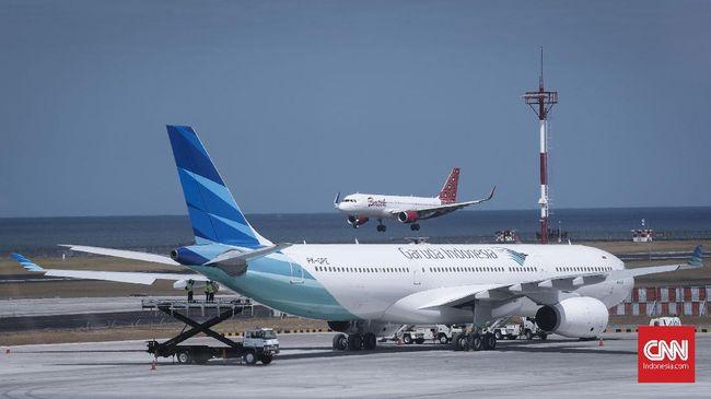Pesawat Garuda Indonesia.  CNNIndonesia/Safir Makki