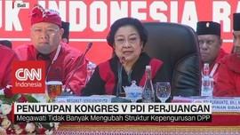 VIDEO: Megawati Umumkan Struktur & Tutup Kongres V