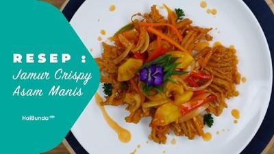 Resep Jamur Crispy Asam Manis