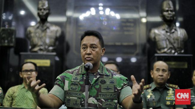 KSAD Jenderal TNI Andika Perkasa membenarkan hukum disiplin terhadap Letkol Aloysius Sudirman Sadi karena unggahannya terkait pembangunan Gereja di Karimun.
