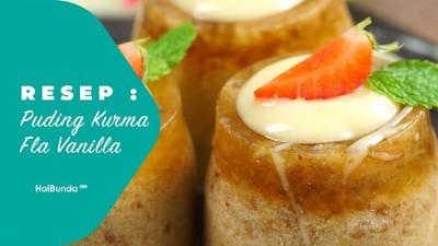Resep Puding Kurma Fla Vanilla