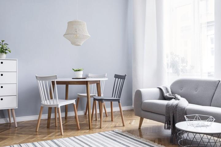 Perpaduan warna netral menjadi ciri khas gaya skandinavia.