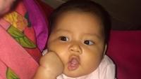 <p>Semoga tumbuh menjadi anak cantik dan membanggakan orang tua ya, Quinnsha. (Foto: Instagram @ilhamfauzie) </p>