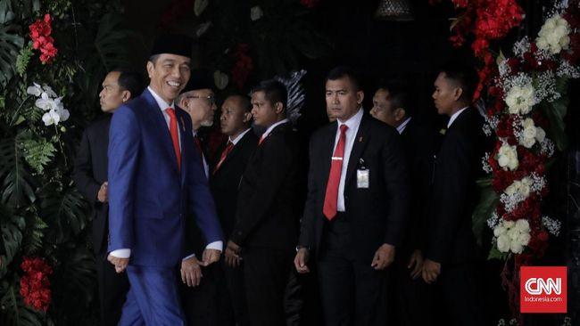 Jokowi mengibaratkan persatuan Indonesia harus seperti peribahasa kiambang-kiambang yang bertaut kembali, setelah biduk pembelah berlalu.