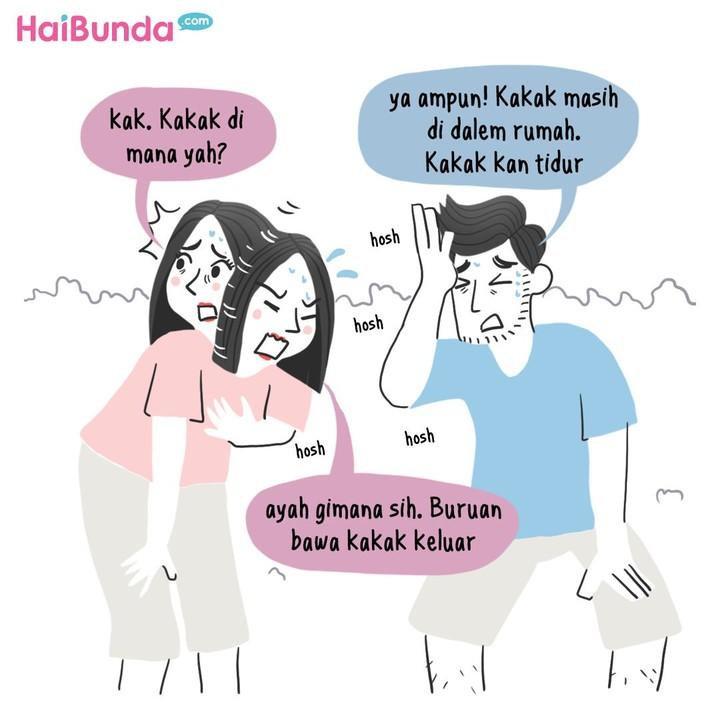 Begini pengalaman Bunda di komik ini dan keluarga ketika terjadi gempa bumi. Kalau keluarga Bunda punya pengalaman apa? Share yuk.