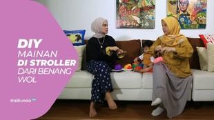 DIY Mainan di Stroller dari Benang Wol