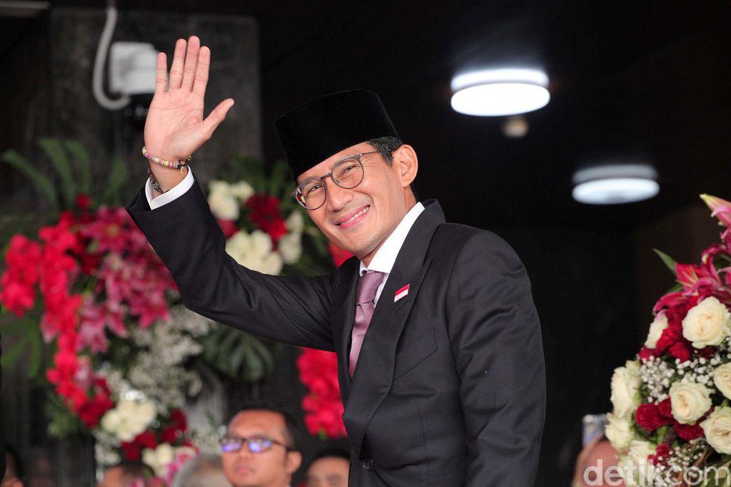 Hadiri Sidang Tahunan MPR, Sandiaga Sempat Jalan Kaki Gara-gara Macet