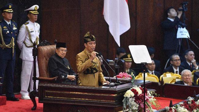 Jokowi menyatakan kebijakan pemerintah membangun food estate bisa meningkatkan ketahanan pangan karena dilakukan dengan teknologi modern dan digital.