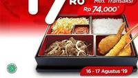 <p>Hokben memberikan potongan sebesar Rp17.000 dengan minimal transaksi Rp74.000. Lumayan juga lho. (Foto: Istimewa)</p>