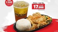 <p>Cuma berlaku dua hari sampai 18 Agustus, Waroeng Steak & Shake menawarkan harga spesial Rp.17000 untuk sebuah paket nasi dan ayam. (Foto: Istimewa)</p>
