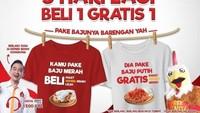 <p>Gepek Bensu menawarkan promo yang unik nih, Bun. Sampai tanggal 18 agustus, bagi pelanggan yang memakai baju merah putih ada penawaran spesial. (Foto: Istimewa)</p>