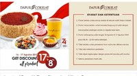 <p>Selama dua hari, 16-17 Agustus Dapur Cokelat memberikan diskon 17 persen + 8 persen lho. Tertarik enggak nih, Bun? (Foto: Istimewa)</p>