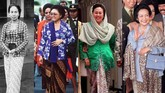 Kebaya merupakan representasi bangsa Indonesia yang kerap dikenakan oleh Ibu Negara dari tahun 1945 hingga saat ini.