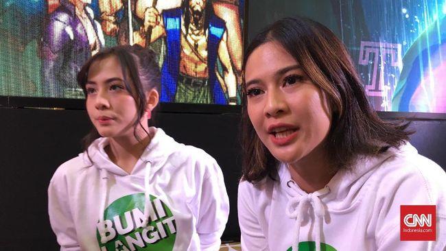 Zara eks JKT48 dan Dian Sastro menceritakan pengalamannya masuk ke dalam jajaran pahlawan dalam semesta Bumi Langit.
