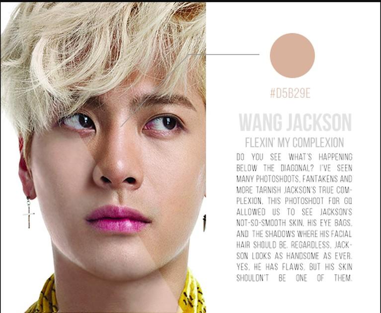 Beberapa foto idol Kpop yang beredar di kalangan fans, kerap kali sudah melalui proses editing termasuk filter pemutih kulit yang menyamarkan warna kulit asli.