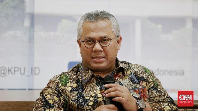 Ketua KPU Arief Budiman dinyatakan positif covid-19 usai tes swab sebelum mengikuti rapat di Istana Bogor.
