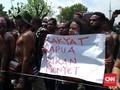 Demo di Jakarta, Mahasiswa Papua Saling Dorong dengan Aparat