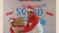 <p>Wah, happy banget nih! Terima kasih Bunda dan buah hati sudah ikutan Agustusan Seru HaiBundaSquad. Foto: HaiBunda</p>