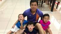 <p>Sementara itu, Hendra Setiawan memiliki tiga anak, si kembar Richard dan Richele, lalu si bungsu Russel. (Foto: Instagram @hendrasansan)</p>