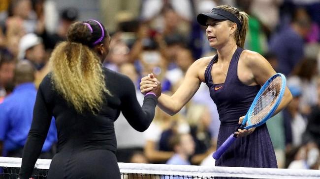 Serena Williams berhasil mengalahkan Maria Sharapova di US Open. Berikut foto-foto pilihan di laga tersebut.