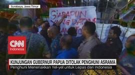 VIDEO: Kunjungan Gubernur Papua Ditolak Penghuni Asrama