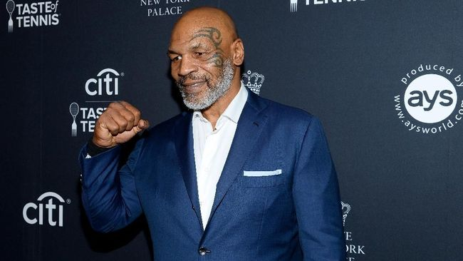 NEW YORK, NEW YORK - AUGUST 22: Mike Tyson attends the Citi Taste Of Tennis on August 22, 2019 in New York City.   Noam Galai/Getty Images for AYS Sports Marketing/AFP