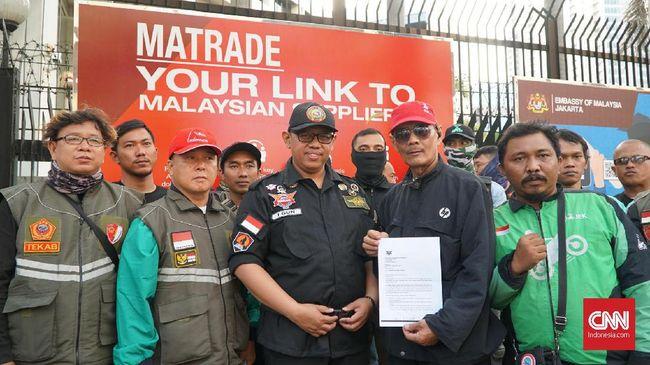 Massa Ojek Online Batal Demo di Kedubes Malaysia