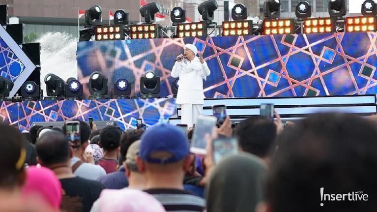 Beberapa keramaian dan keseruan acara Jakarta Muharram Festival di Bundaran HI, Jakarta Pusat, hari ini, Sabtu (31/8)