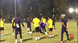 VIDEO: Jelang Lawan Indonesia, Malaysia Latihan Tertutup