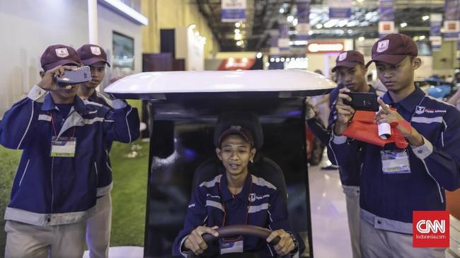 Indonesia Electric Motor Show 2019 di gedung Balai Kartini, Jakarta, Rabu (4/9) sebagai sarana edukasi kendaraan listrik ke masyarakat.