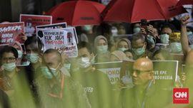 FOTO : Aksi Tolak Revisi UU KPK
