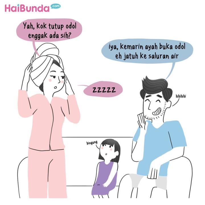 Gara-gara odol alias pasta gigi, kehebohan terjadi di rumah Bunda. Keluarga Bunda juga punya pengalaman seperti ini? Share yuk di kolom komentar.