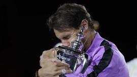 FOTO: Juara US Open Jadi Gelar Ke-19 Nadal