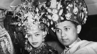 BJ Habibie resmi mempersunting Hasri Ainun Besari di Bandung pada 12 Mei 1962. (Foto: Dok. Wikipedia)