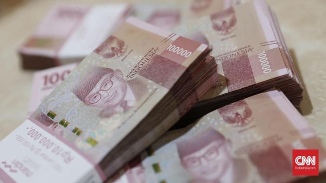 ilustrasi rupiah dan dolar.