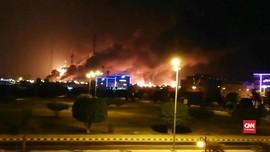 VIDEO: Kobaran Api Lahap Kilang Minyak Terbesar Arab Saudi