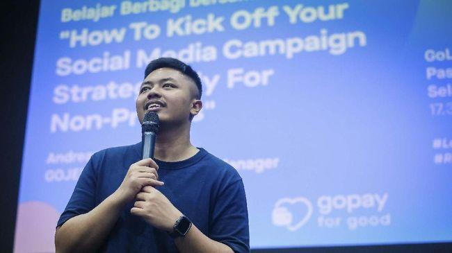 Gojek menggandeng komunitas IndoRelawan terkait dengan pengembangan kapasitas organisasi nonprofit untuk pengumpulan donasi melalui media sosial.