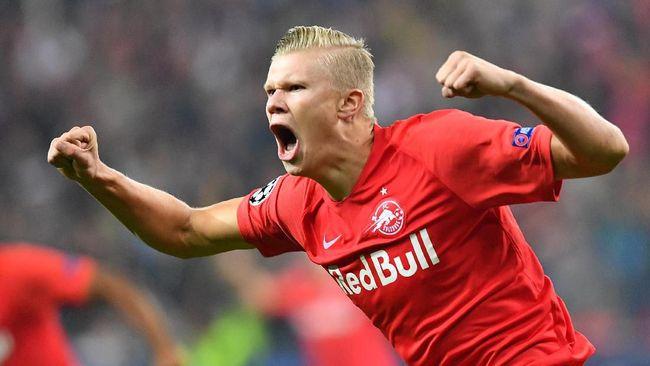 Bintang muda Salzburg, Erling Haaland, kembali membuat sensasi dengan mencetak rekor bersejarah di Liga Champions.