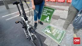 Kendaraan Masuk Jalur Sepeda Akan Ditilang