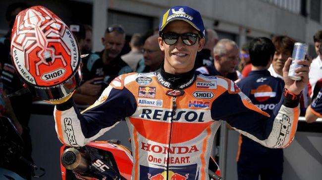 Penurunan performa pebalap Yamaha pada sesi balapan MotoGP Aragon 2019 membuat Marc Marquez bingung.
