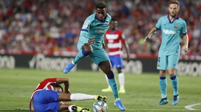 Barcelona tidak memperlihatkan penampilan sebagai tim calon juara saat kalah dari tim promosi Granada pada pekan kelima Liga Spanyol.