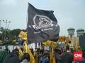 Massa Petani dan Mahasiswa dari Monas Bergerak ke DPR
