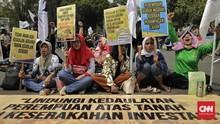 Diikuti 60 Orang, Aksi Hari Tani di Depan DPR Patuhi Protokol