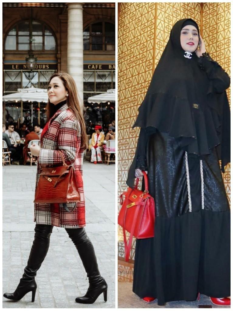 Sama-sama mengenakan tas merah. Tas yang dibawa oleh Maia disebut memiliki harga lebih dari Rp986 juta. Sementara tas merah milik Mulan setara dengan Rp296 juta.
