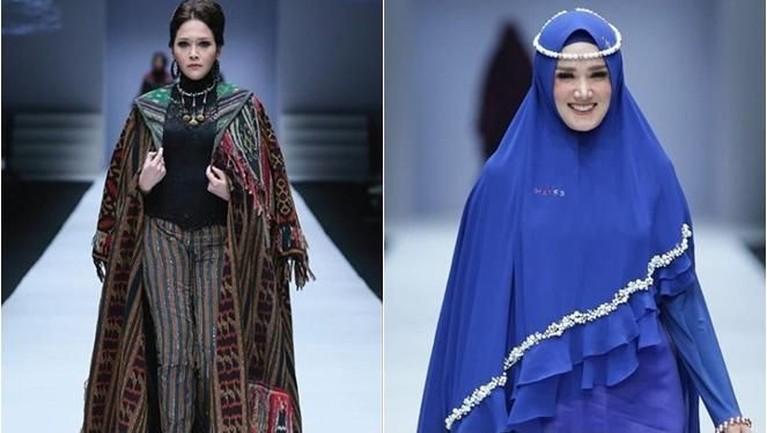 Maia tampil dengan setelan baju karya Anne Avantie yang bertemakan Badai Pasti Berlalu dengan riasan boldnya. Sementara Mulan tampil dengan balutan busana bertemakan biru elektrik.